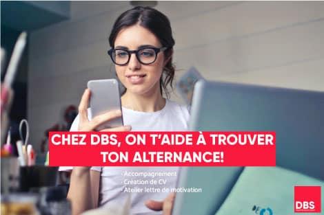 Chez DBS - Digital Business School on t'aide à trouver ton alternance. Clique-ici pour en savoir plus.